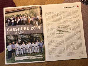 Bericht über das Gasshuku 2019 in Tamm im DJKB Heft 3/2019