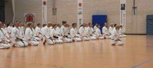 Karateka beim Angruß mit Ochi