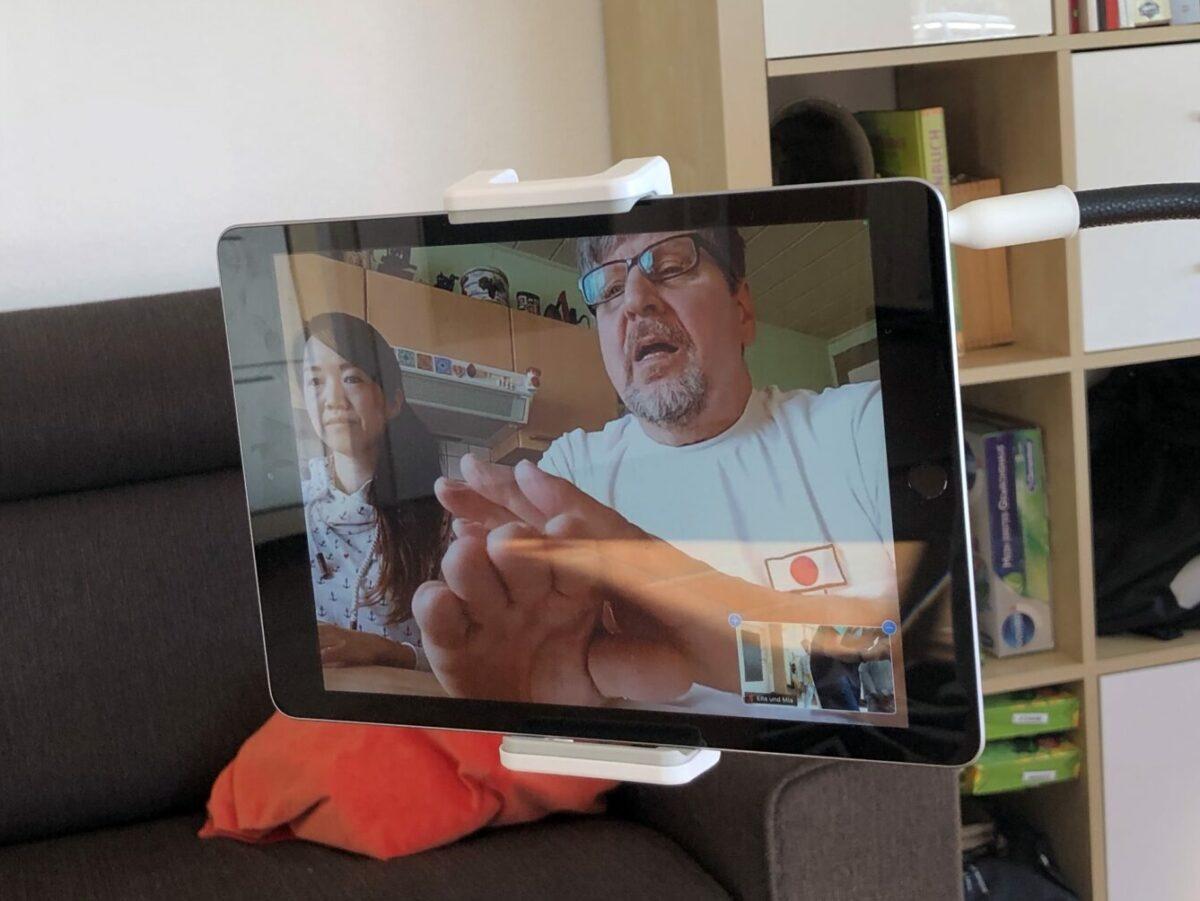Die beiden Prüfer in der Videokonferenz